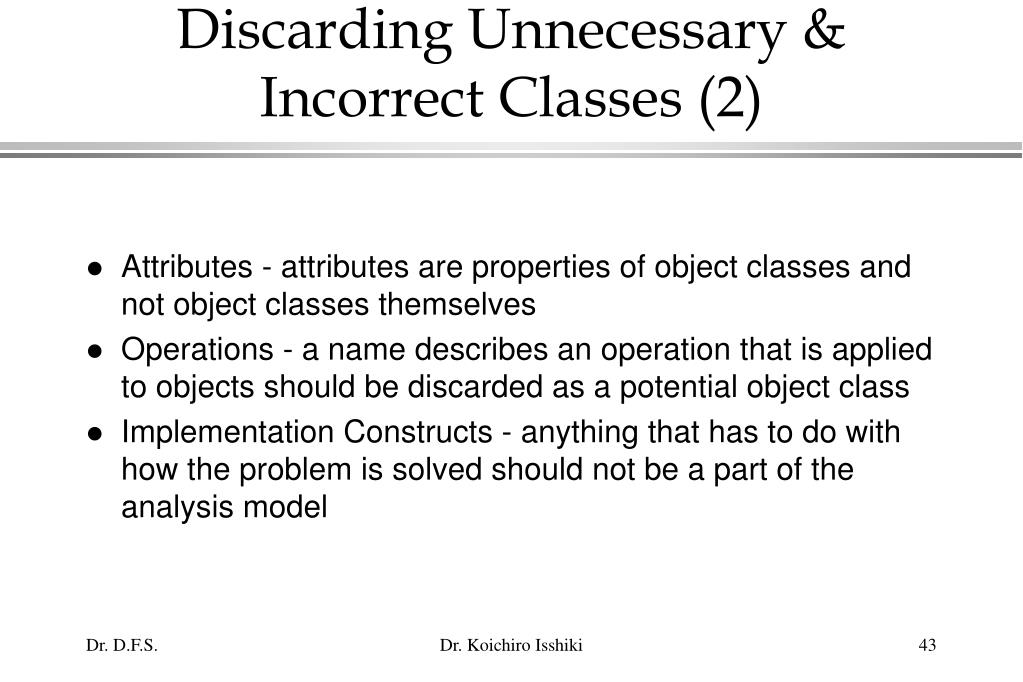 Discarding Unnecessary & Incorrect Classes (2)