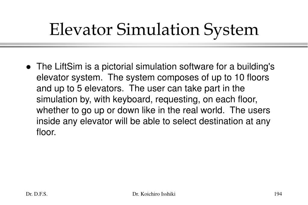 Elevator Simulation System