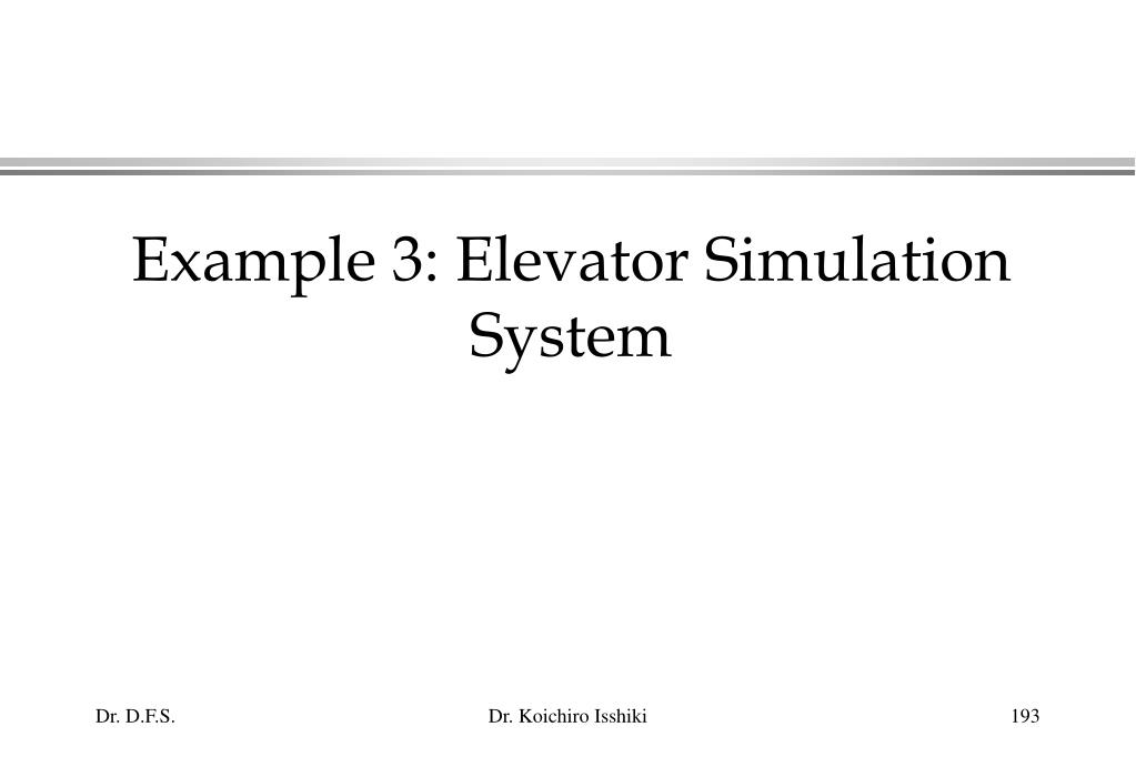 Example 3: Elevator Simulation System
