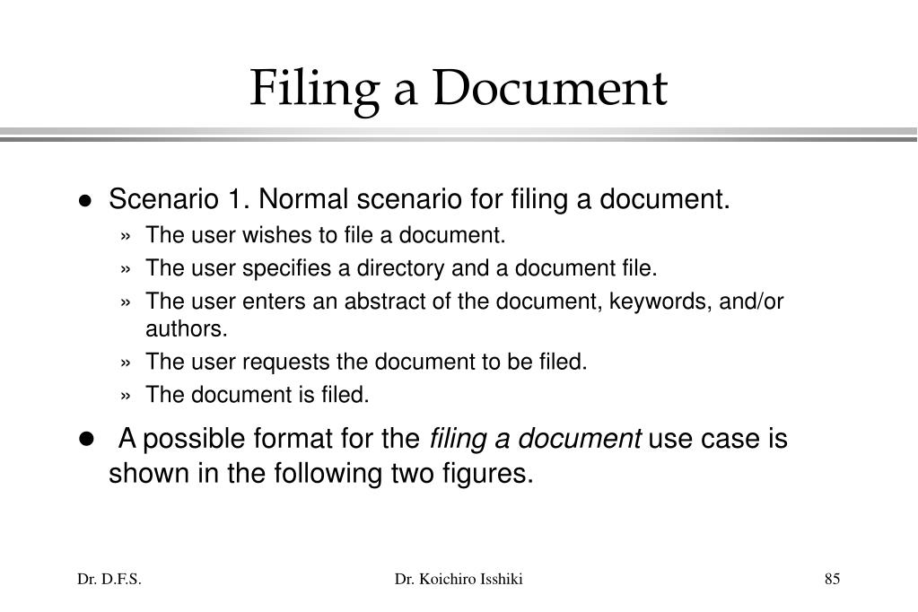 Filing a Document