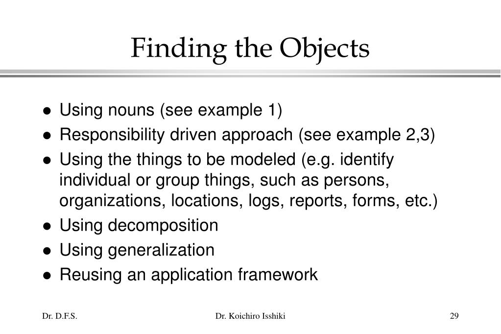 Finding the Objects