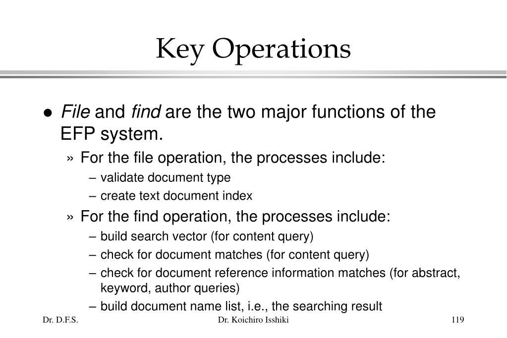 Key Operations
