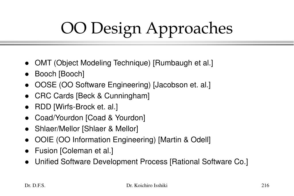 OO Design Approaches