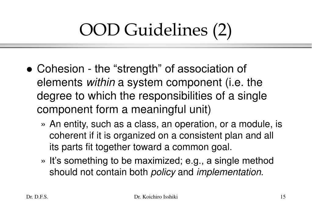 OOD Guidelines (2)