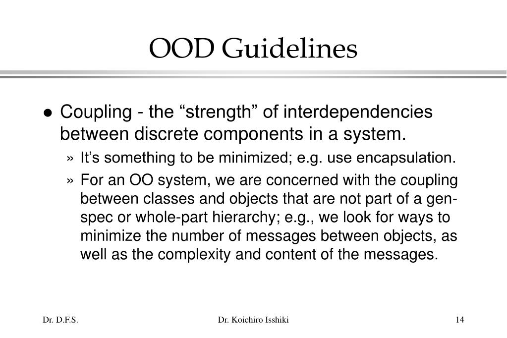 OOD Guidelines