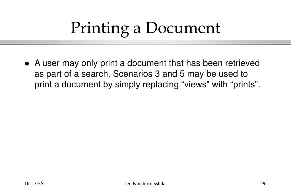 Printing a Document