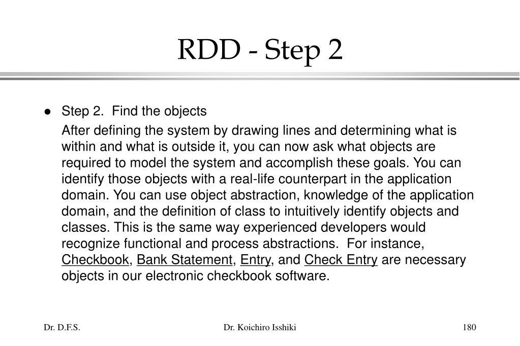 RDD - Step 2