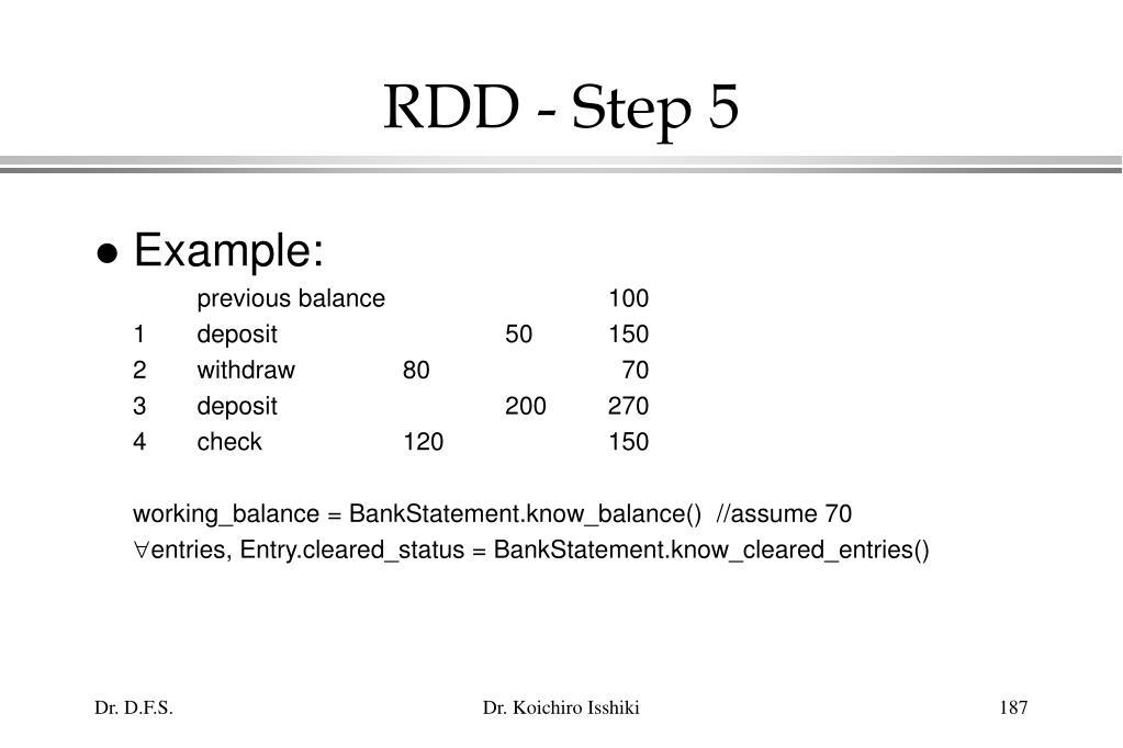 RDD - Step 5
