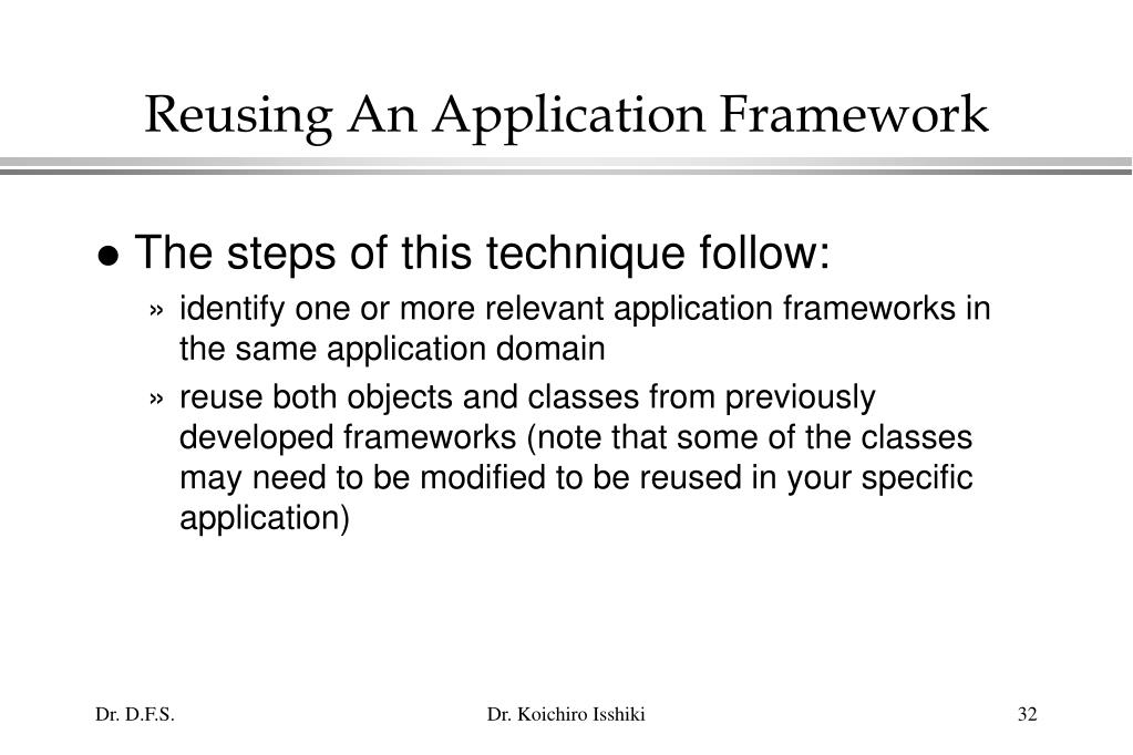 Reusing An Application Framework