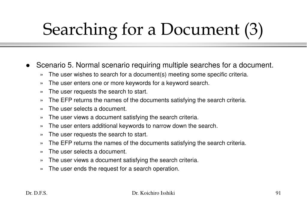 Searching for a Document (3)