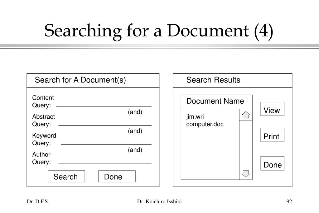 Searching for a Document (4)