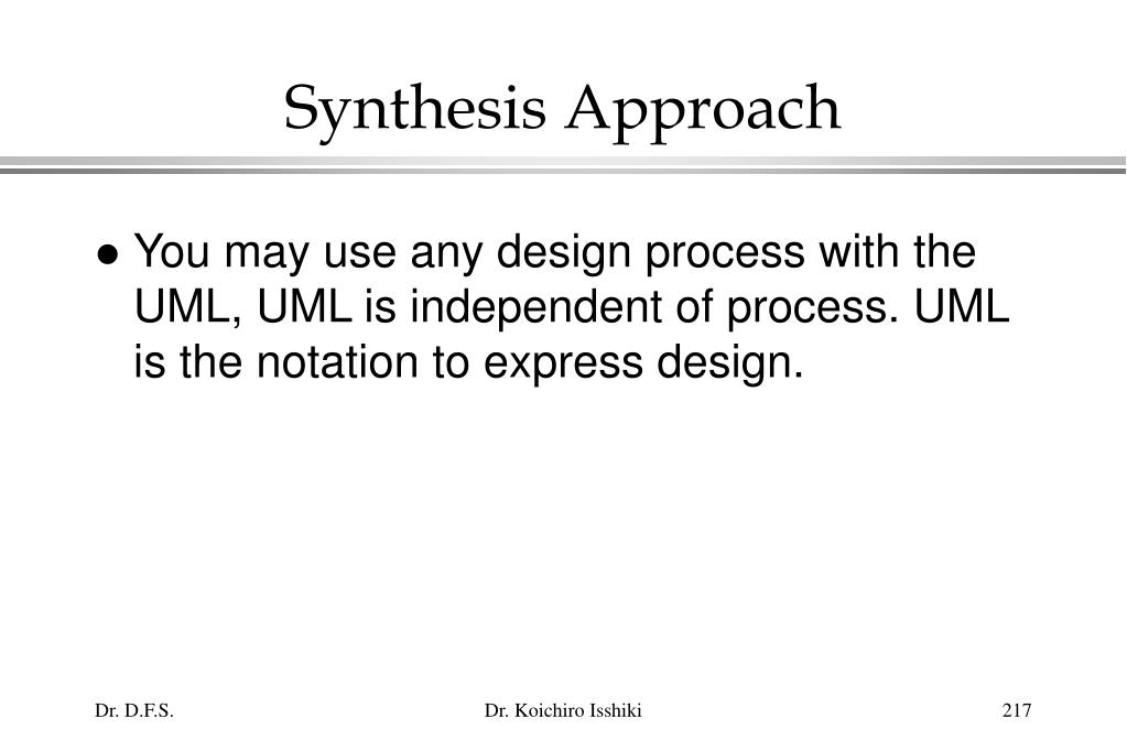 Synthesis Approach