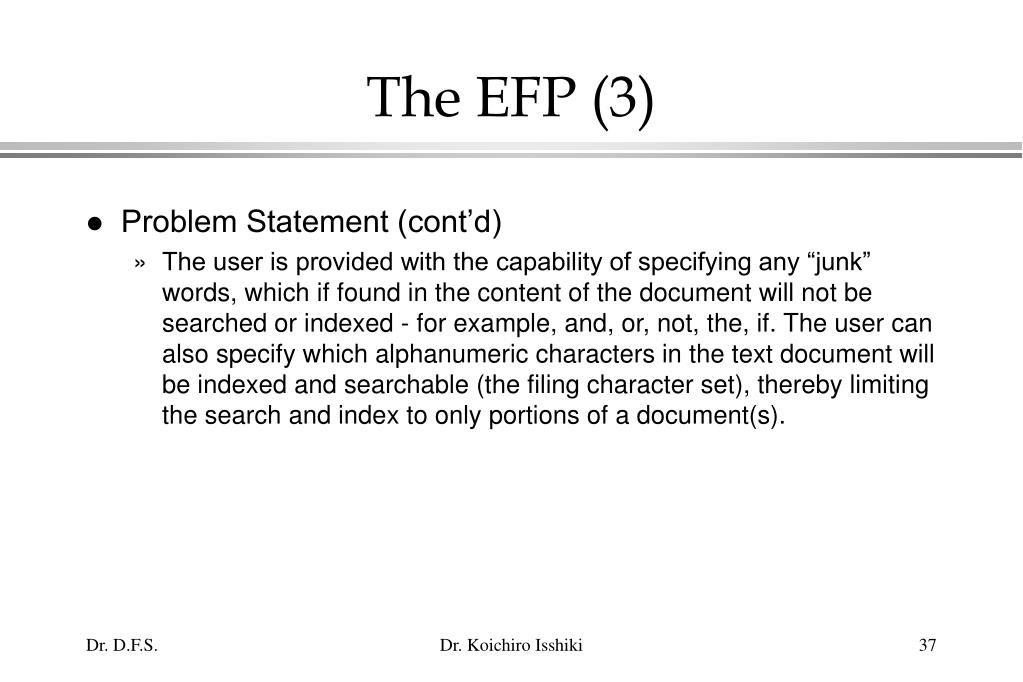 The EFP (3)