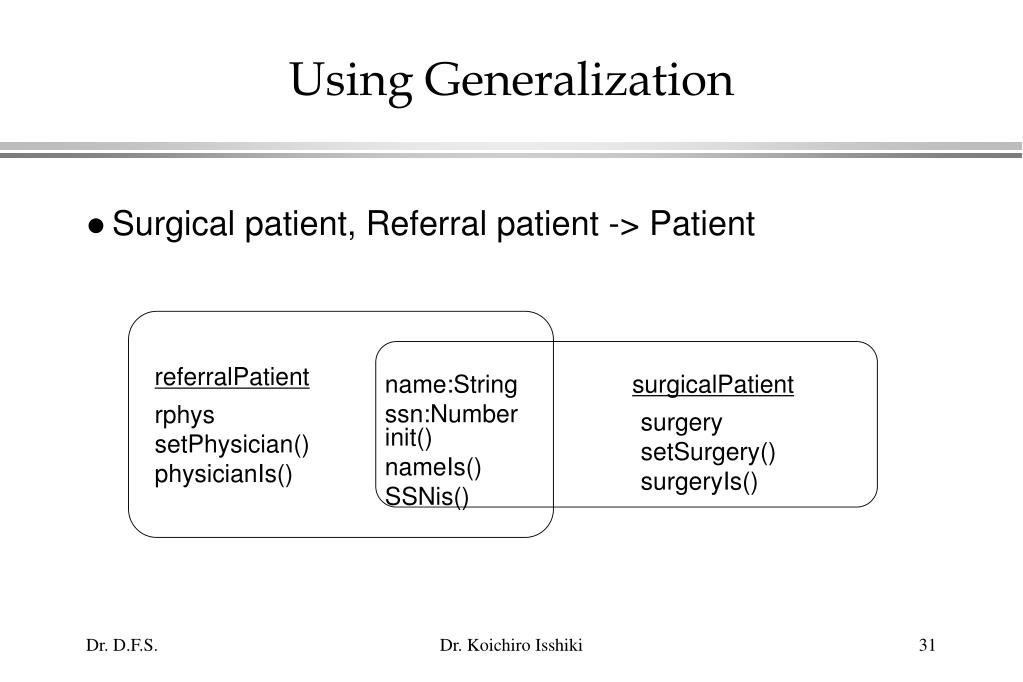 Using Generalization
