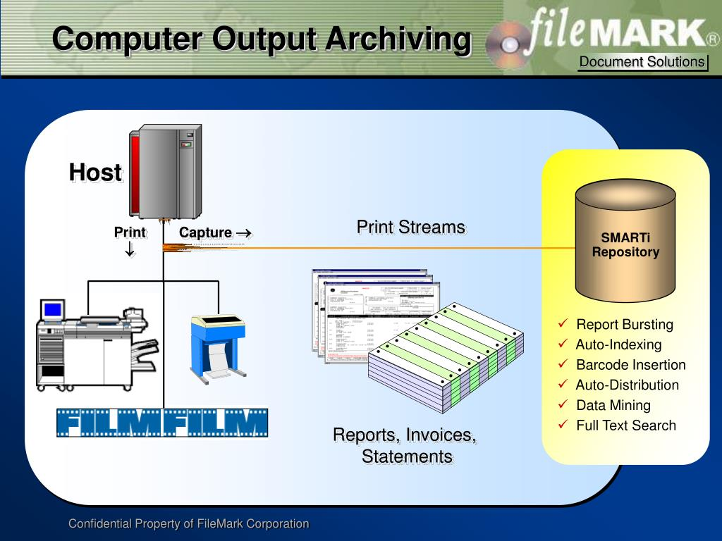 Computer Output Archiving