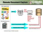 remote document capture