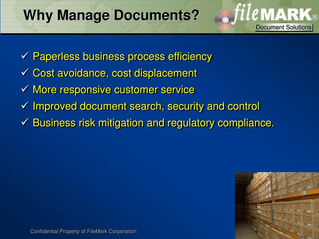 Why Manage Documents?