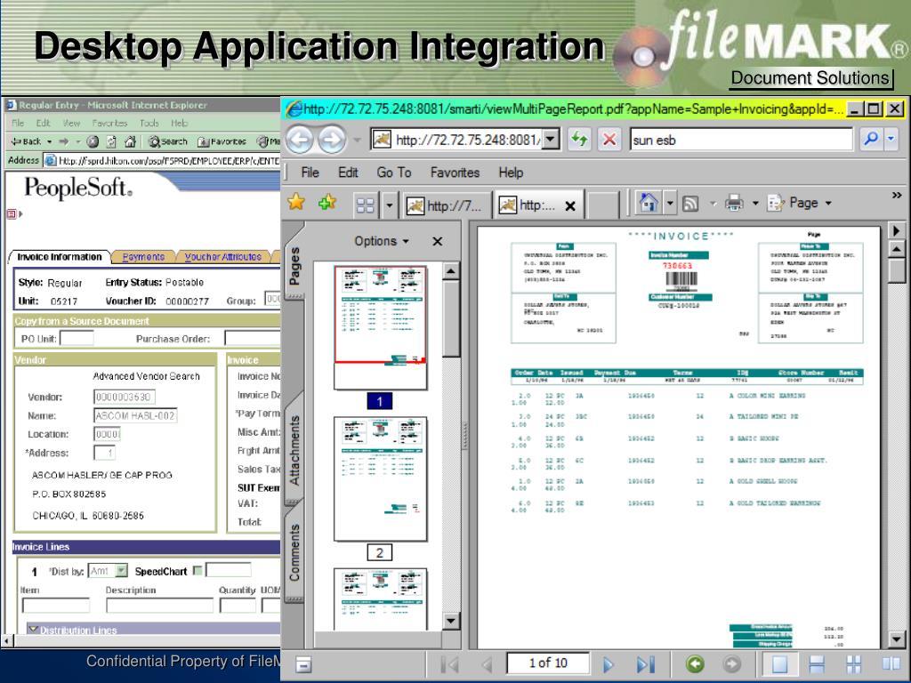 Desktop Application Integration