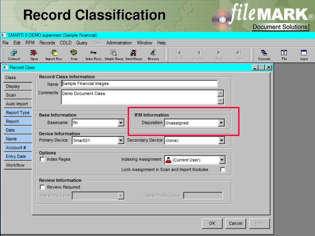 Record Classification