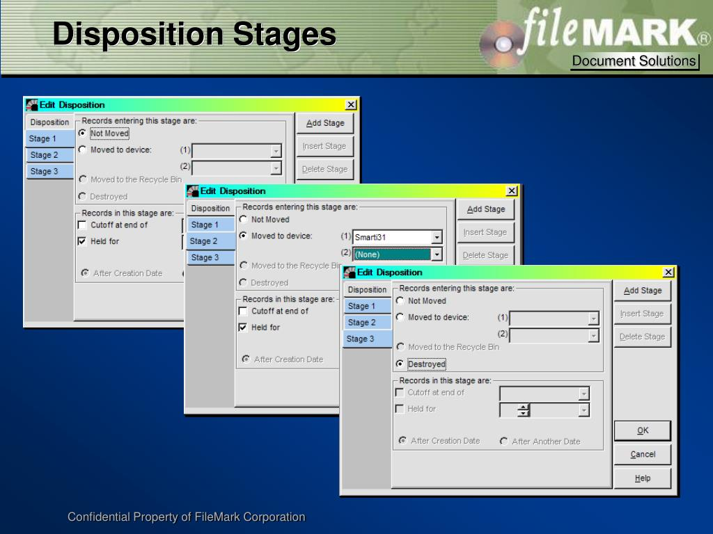 Disposition Stages