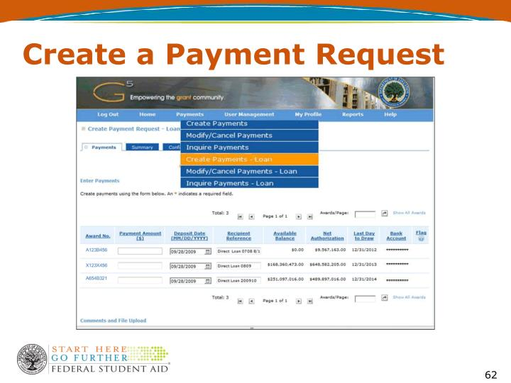 Create a Payment Request