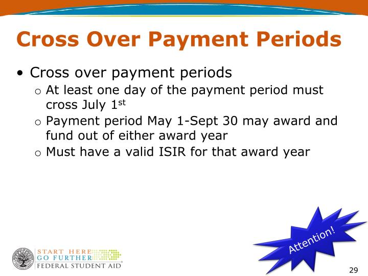 Cross Over Payment Periods