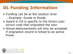 dl funding information