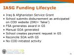 iasg funding lifecycle