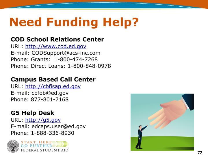 Need Funding Help?