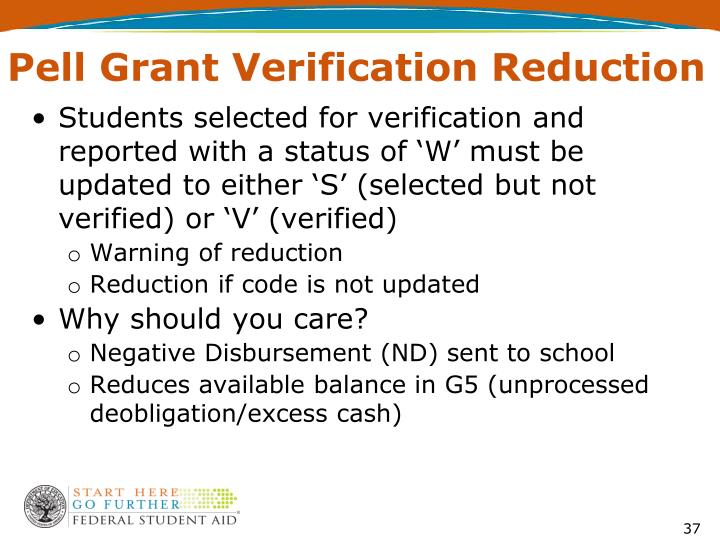Pell Grant Verification Reduction