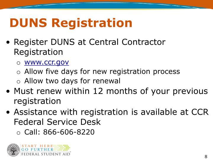 DUNS Registration