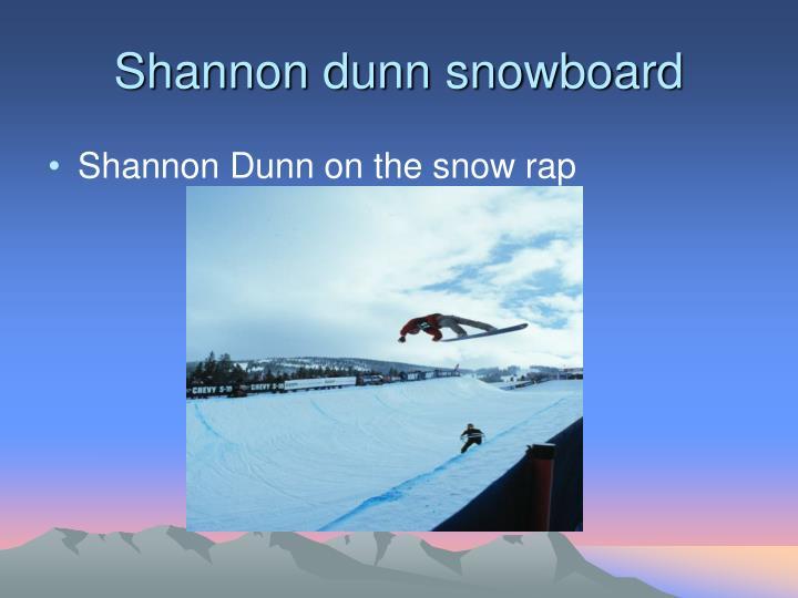 Shannon dunn snowboard