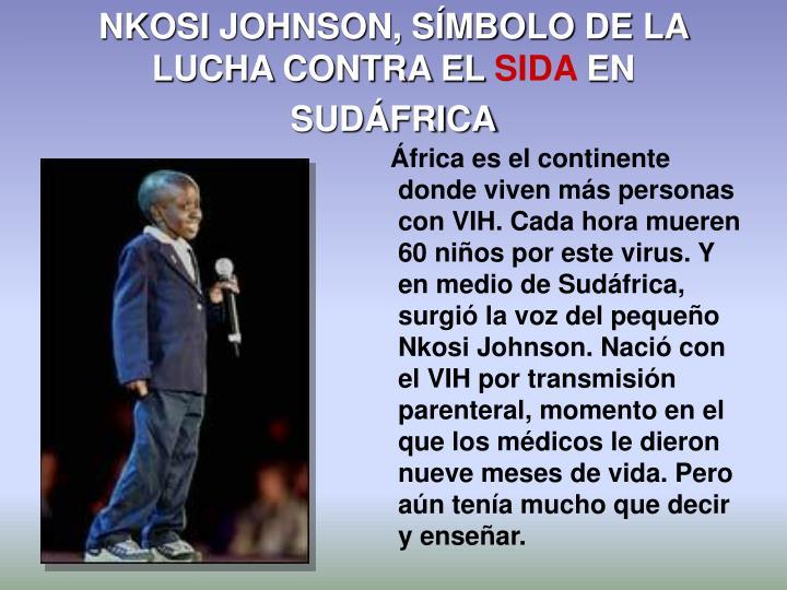 NKOSI JOHNSON, SÍMBOLO DE LA LUCHA CONTRA EL