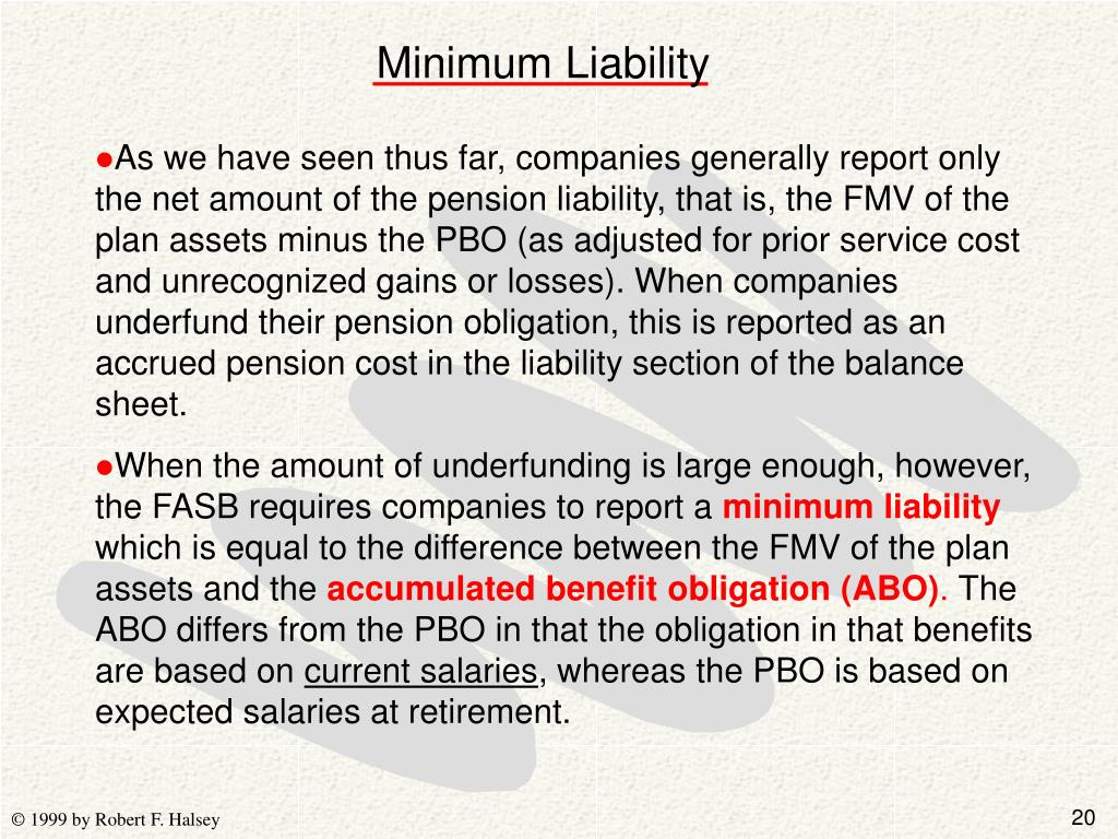 Minimum Liability