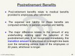 postretirement benefits