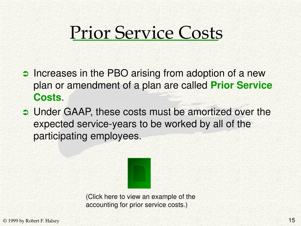 Prior Service Costs