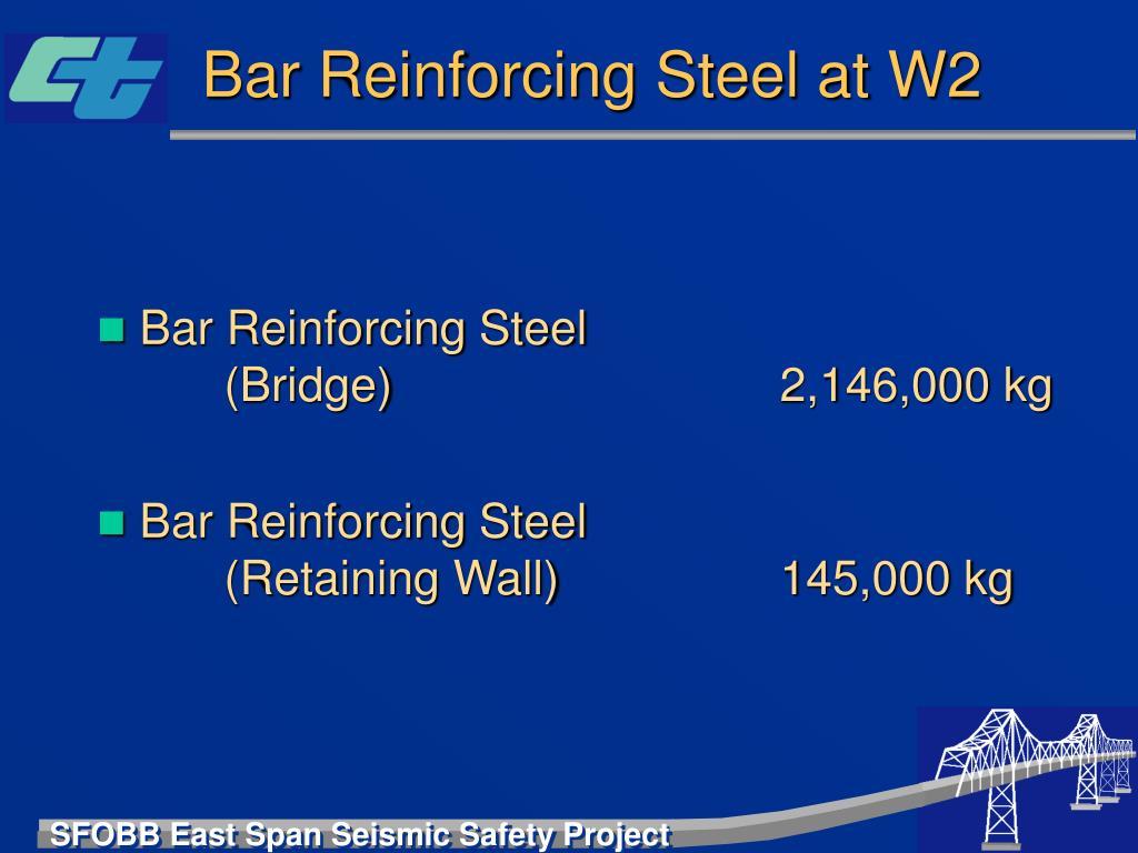Bar Reinforcing Steel at W2