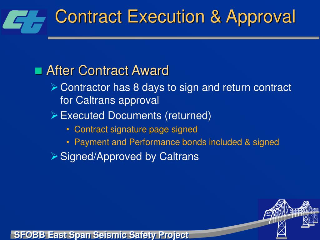 Contract Execution & Approval