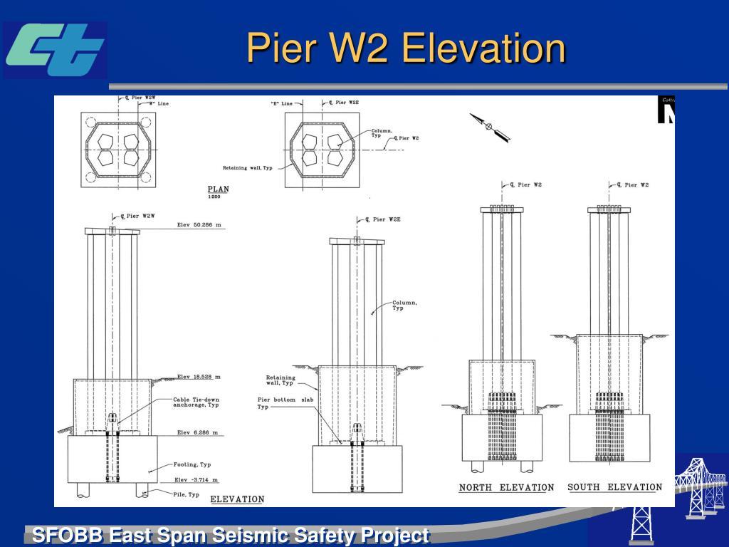 Pier W2 Elevation
