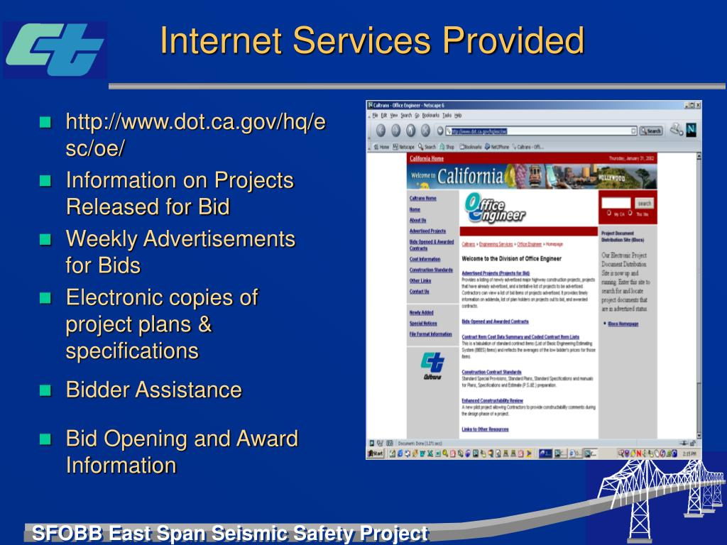 Internet Services Provided