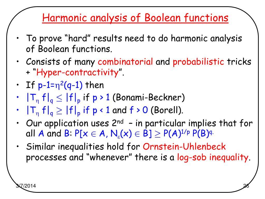 Harmonic analysis of Boolean functions