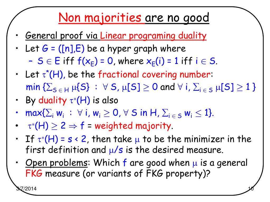 Non majorities