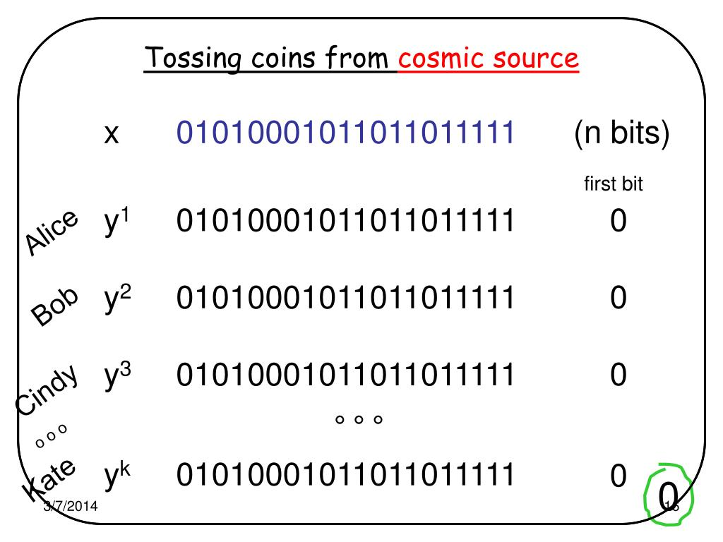 Tossing coins from