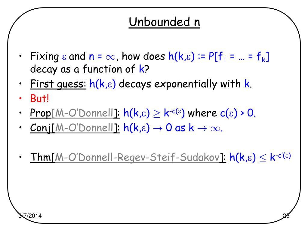 Unbounded n