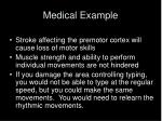 medical example
