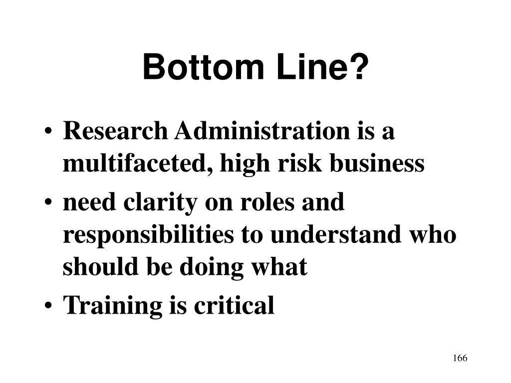 Bottom Line?