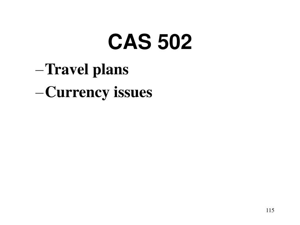 CAS 502