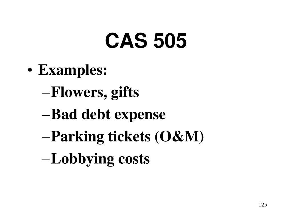 CAS 505