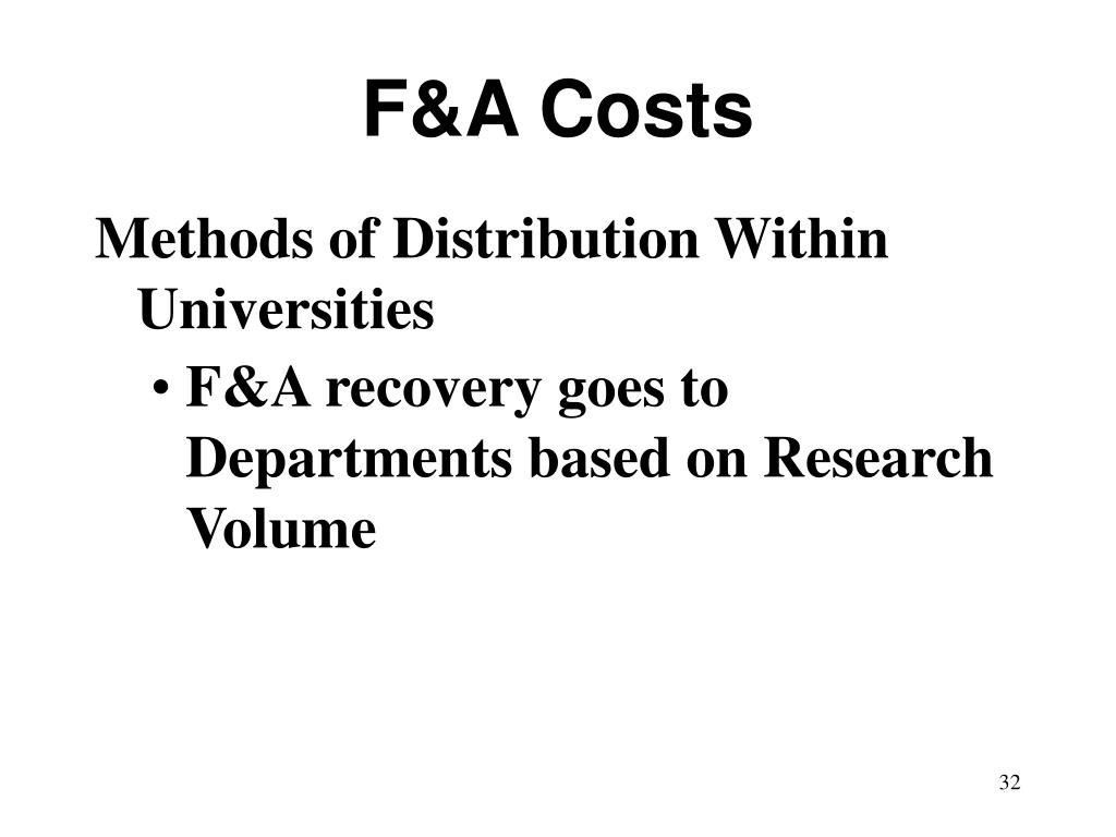 F&A Costs