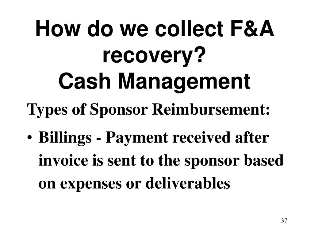 How do we collect F&A recovery?